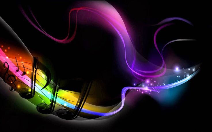 3d Colorful Music Notes Wallpaper: Colorful Music Notes Abstract Wallpaper