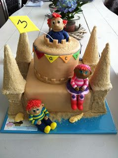 tutorial om een zandkasteel taart te maken. zou het mij ook lukken??