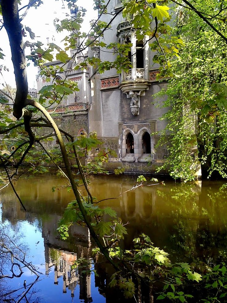 The abandoned palace of Kopice in Poland.Kopice Castle, Poland. Beautiful abandoned castle circa 1300s. Kopice is a village in the administrative district of Gmina Grodków, within Brzeg County, Opole Voivodeship, in south-western Poland.