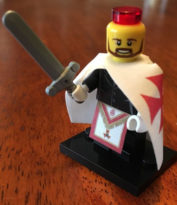 Lego Knights Templar Freemason by High12Art on Etsy