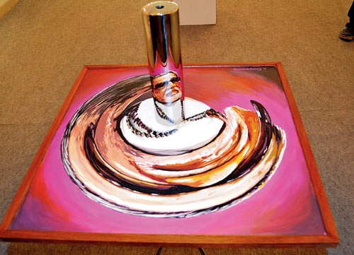 Anamorphic Art!!! 'Portrait of Bal Thackeray' By: Vincent Pallissery