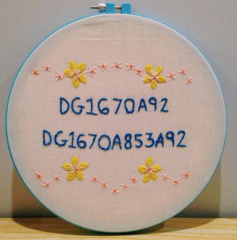 Spent the night embroidering my Wifi password