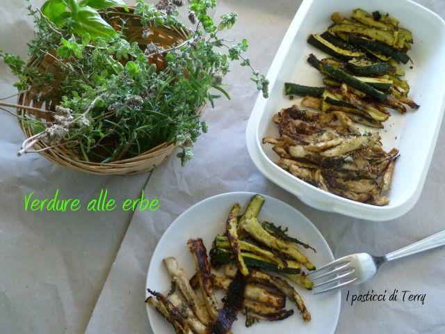 Oggi si va di verdure e di erbe aromatiche. Vuoi sapere come le conservo per l'inverno? Ecco qua: http://www.ipasticciditerry.com/verdure-alle-erbe/