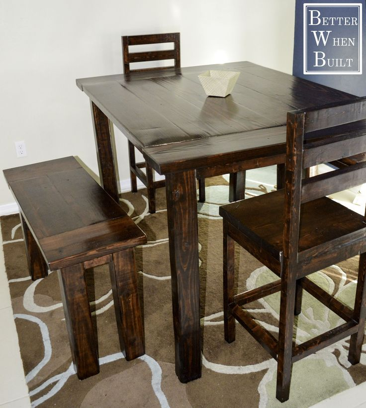 DIY Counter-Height Dining Table