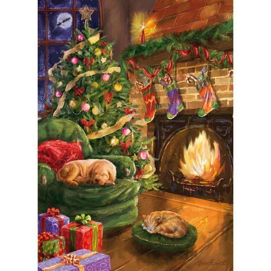 Waiting For Santa Rectangular Jigsaw Puzzle