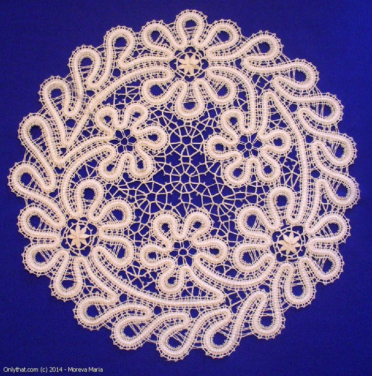 Walk In The Meadow - doily, Vologda bobbin lace