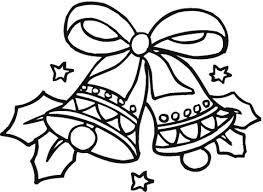 Resultado de imagem para dibujo de campanas de navidad para colorear