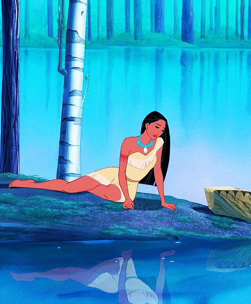 """He wants me to be steady.  Like the river.  But it's not steady at all!"" Pocahontas is one of my favorite princesses :)"