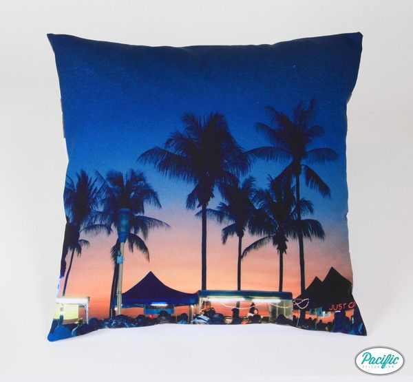 This cushion features the Darwin Markets at dusk printed on high quality non fade material.
