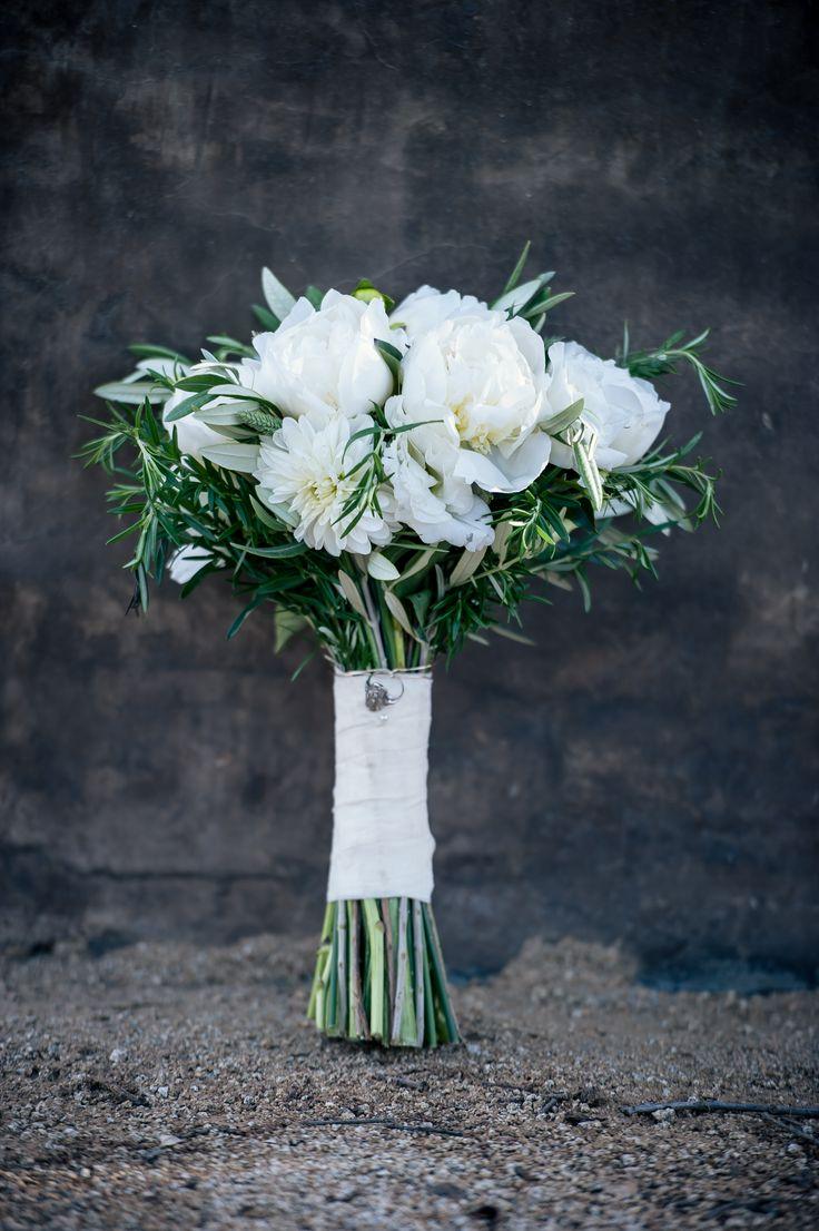 White Peony and Chrysanthemum Bouquet