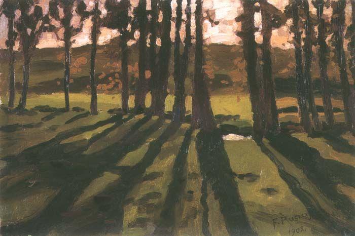 Ferdynand Ruszczyc - Trees and Shadows, 1902