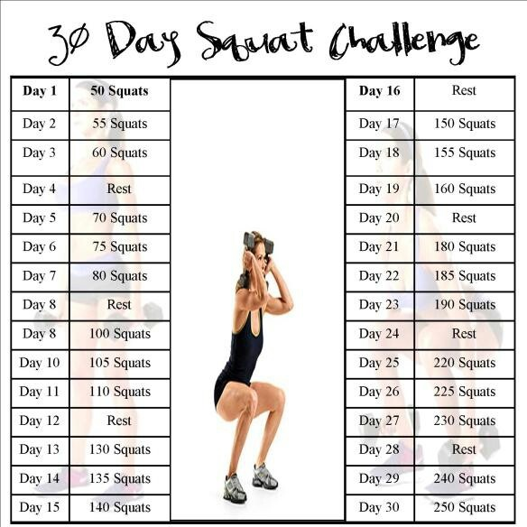 30-day squat challenge. I started this on May 9, 2013. Let's see the result on June 8 ;-)