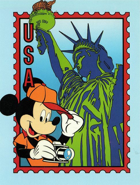 Mickey in the united states epoct postcard