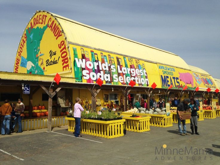 The Big Yellow Barn: Minnesota's Largest Candy Store | Jordan, MN  Tips: Bring Cash