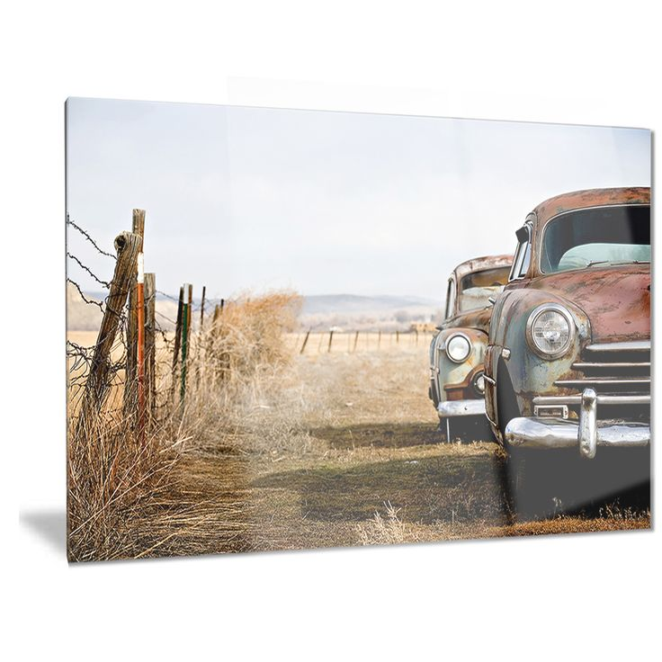 Designart U0027Vintage Carsu0027 Contemporary Metal Wall Art Part 37