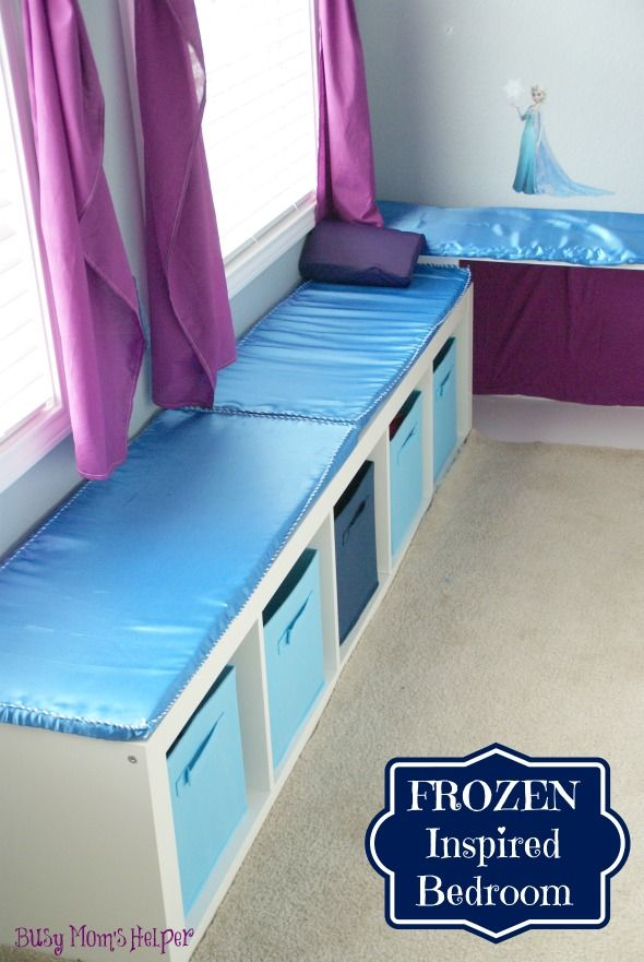 Great storage idea! And good for Frozen Room