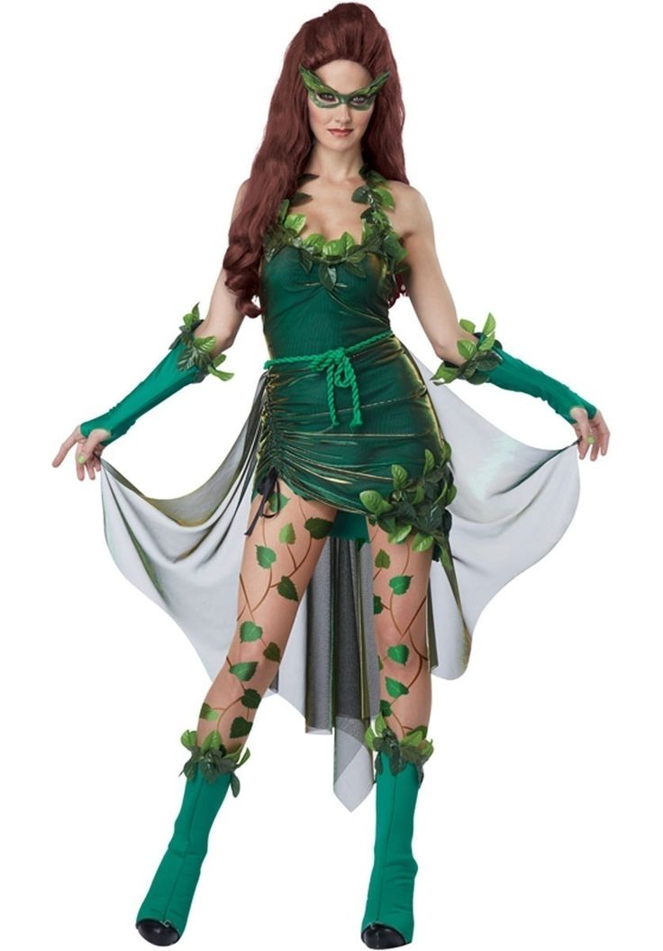 Lethal Beauty Costume, Poison Ivy Style Fancy Dress - Halloween Costumes at Escapade™ UK