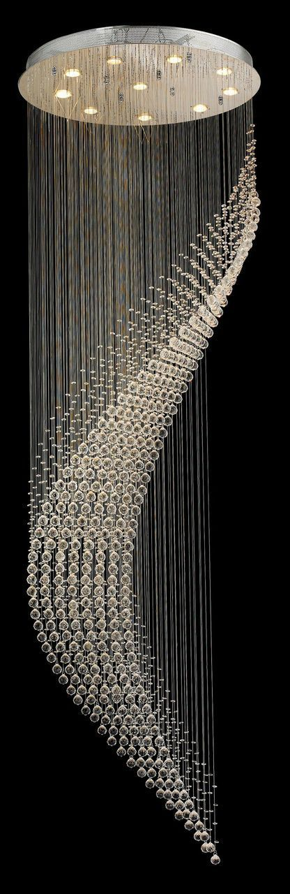 Designer Chandelier Australia  Pty Ltd - Contemporary Wave LED Chandelier - W:80cm H:260cm , $2,499.00 (http://www.designerchandelier.com.au/contemporary-wave-led-chandelier-w-80cm-h-260cm/)