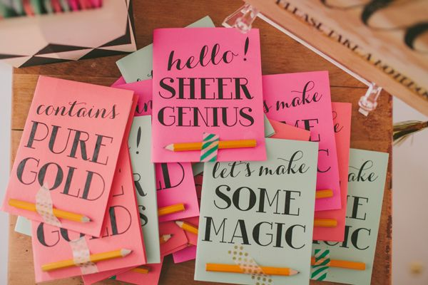 colorful notebooks from glitter