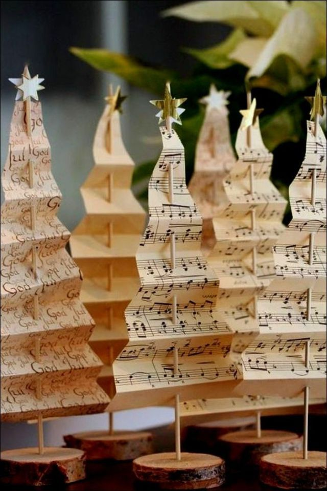 Best Christmas Old Music Of 2020 Beauty Christmas decoration ideas DIY Old music paper Christmas
