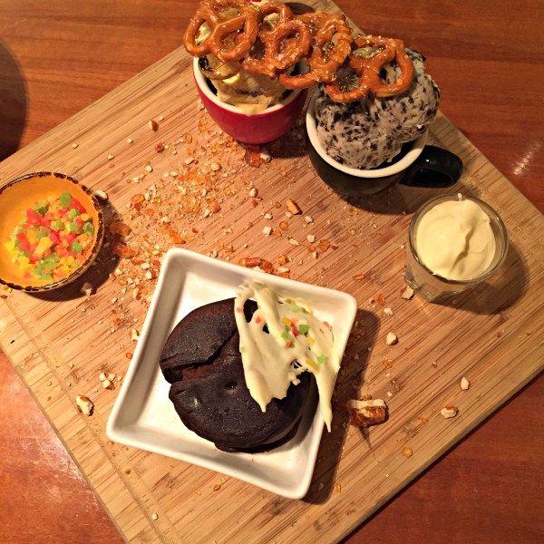 Salamanca Inn - Dessert plate from Beef and Seafood Grill Restaurant, Hobart Tasmania ~ article and photo for think-tasmania.com ~ #foodie #Hobart #Tasmania #Salamanca #dessert