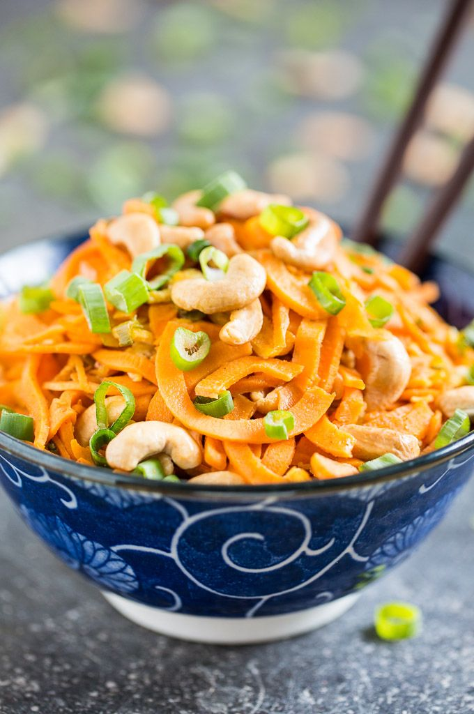Simple Sweet Potato Noodle Pad Thai | Get Inspired Everyday!