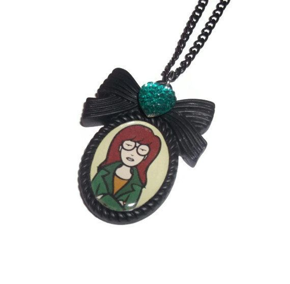 Daria Morgendorffer Necklace Black Cameo by KitschBitchJewellery, $11.99