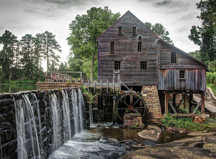 Yates Mill - See more of the best places to photograph in NC at http://loadedlandscapes.com/nc-photography-locations/  // Photo by Larry Lamb - https://www.flickr.com/photos/49708076@N05/9256324794/