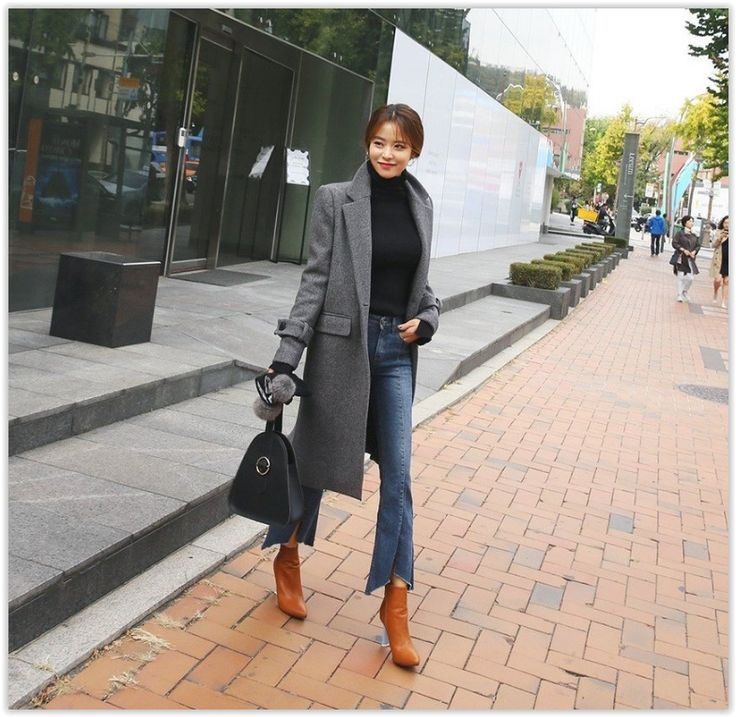 DABAGIRL - Notched-Lapel Buttoned Wool Blend Coat