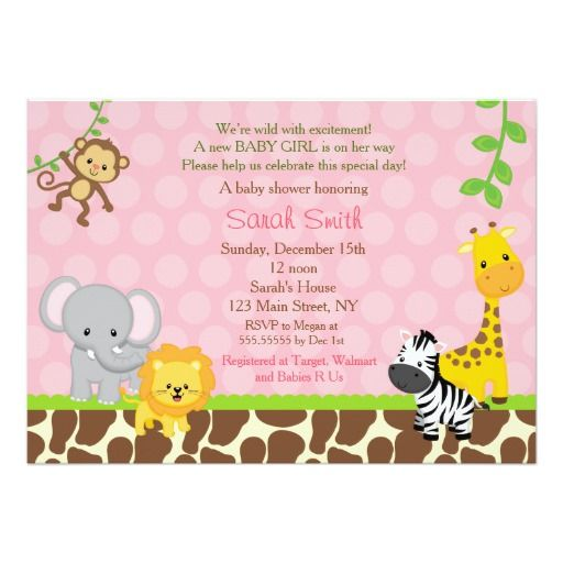 best safari baby shower invitations images on   baby, Baby shower