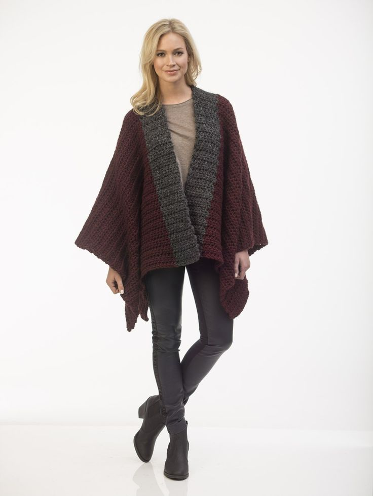 Knitting Patterns For Ponchos And Shawls : Best images about crochet or knit scarfs and shawls