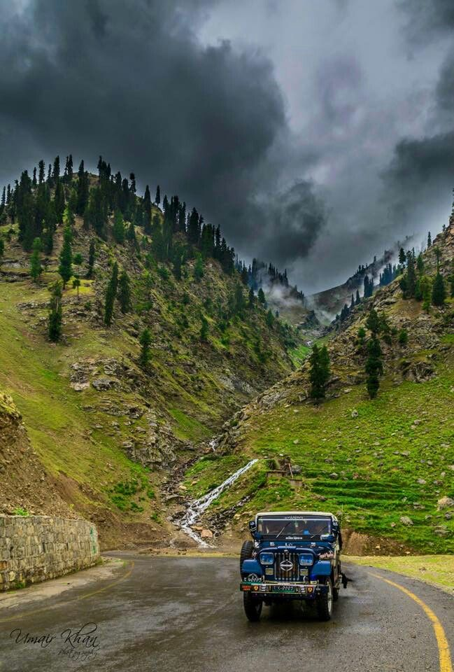 So beautiful & cloudy weather Naran valley Pakistan.