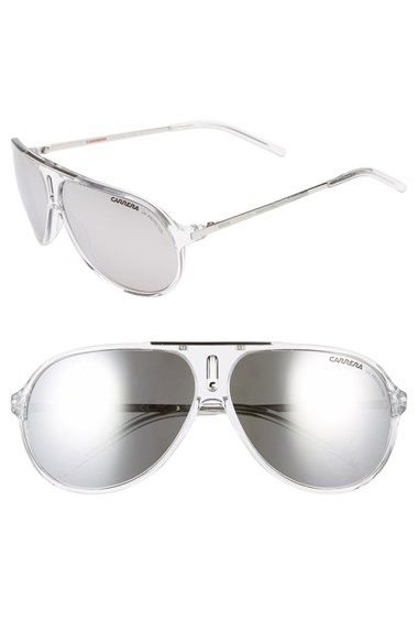 Carrera Eyewear 'Hots' 64mm Aviator Sunglasses available at #Nordstrom