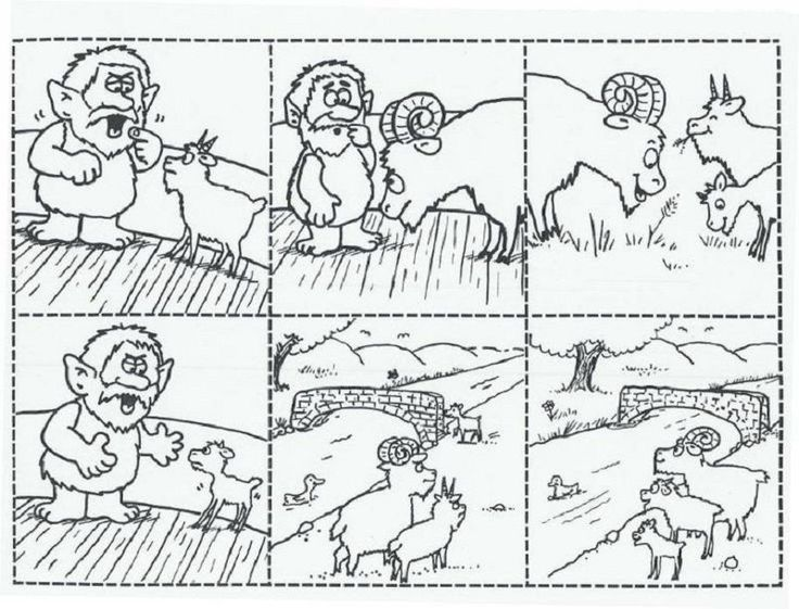 Three Billy Goats Gruff Worksheets Sequence in 2020