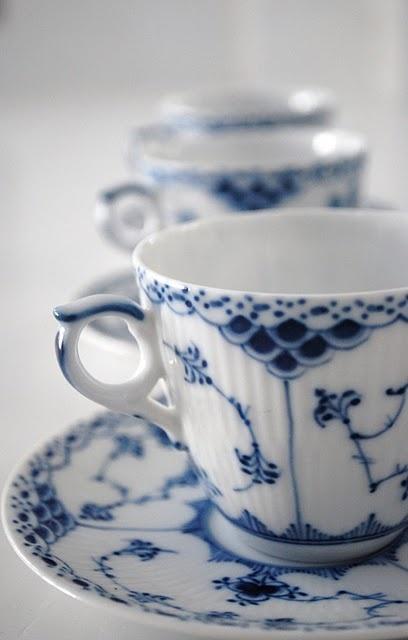Royal Copenhagen demitasse cups.