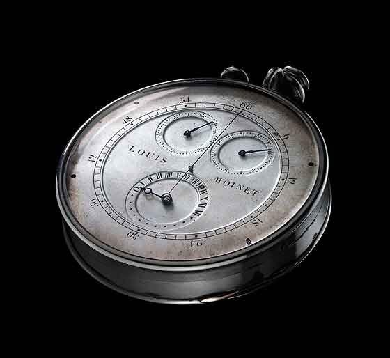 Louis Moinet's compteur de tierces, invented between 1815 and 1816.