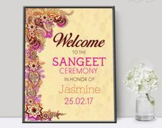 Indian Wedding Invitation Printable Wedding by KarinaLauraDesign