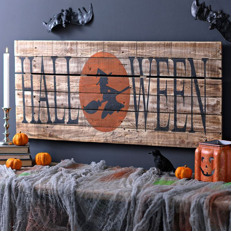 Halloween Witch Wood Plank Sign | Kirklands