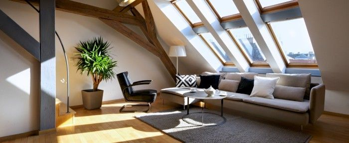 #Accommodation in #Prague for up to 7 persons • 3 bedrooms • 115sqm. Modern Comfort. The air-conditioned, three-bedroom, two-bathroom #Wenceslas Loft apartment is a comfortable place to call your home while visiting the gorgeous city of #Prague.