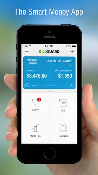 BillGuard - https://itunes.apple.com/us/app/billguard-personal-finance/id602710567?mt=8&ign-mpt=uo%3D4