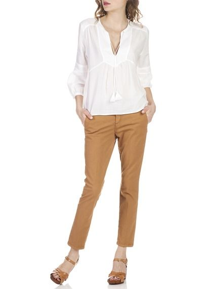 Chino droit en coton Milo Marron by BA & SH