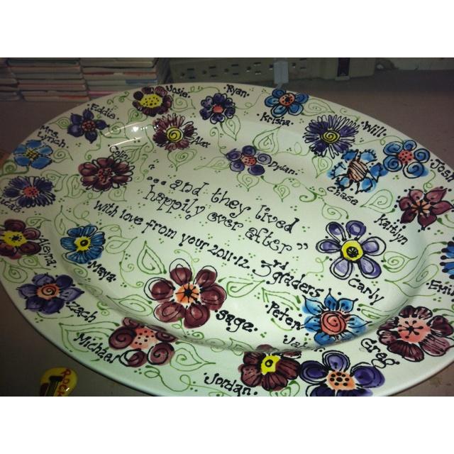 84 best teachers gift pottery ideas images on pinterest teacher wedding gift for teachering fingerprints negle Images