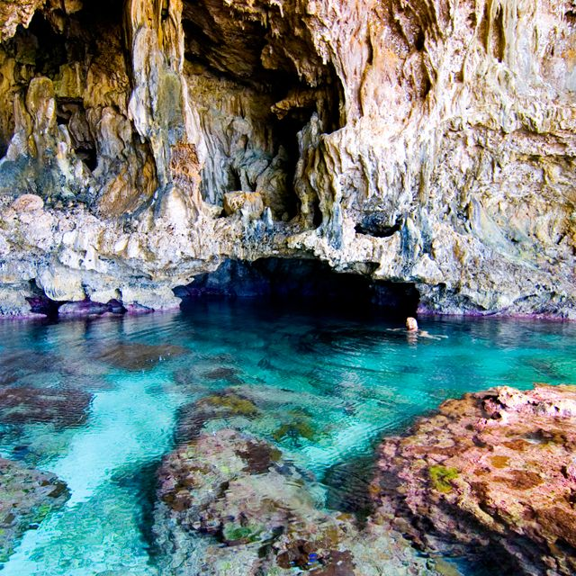 Avaiki Cave, Niue Island. Niue is a Pacific Island paradise, one of the smallest countries on earth and the largest raised coral atoll in the world…..