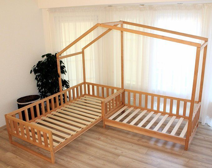 Montessori Floor Bed With Rails Toddler Twin Full Floor Bed Etsy