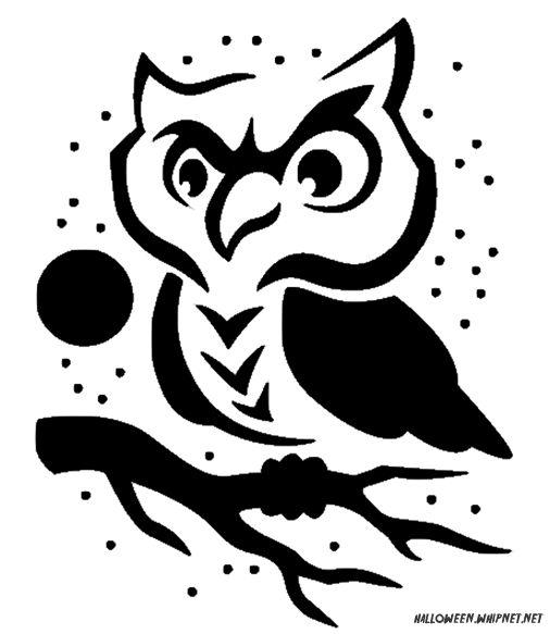 Printable pumpkin carving patterns cute owl