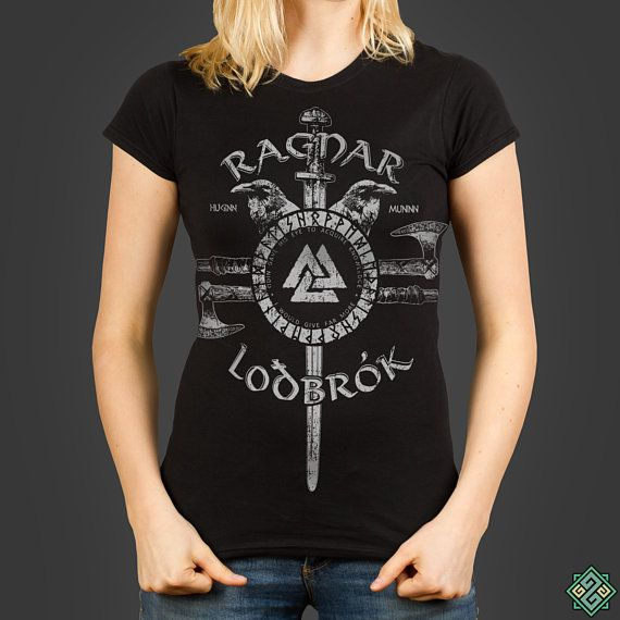 Ragnar Lothbrok - Odin - a runic Vikings inspired Ladies t-shirt, screen  printed