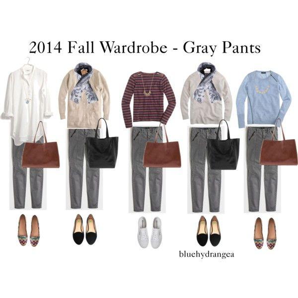 Fall Wardrobe - Gray Pants
