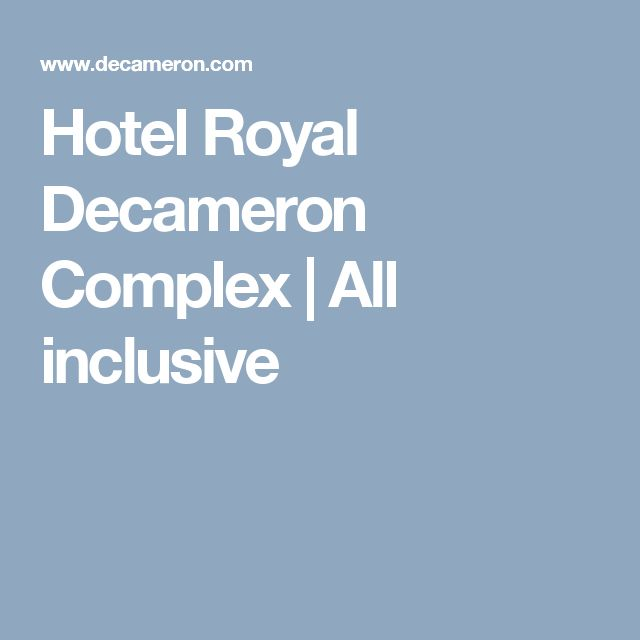 Hotel Royal Decameron Complex | All inclusive