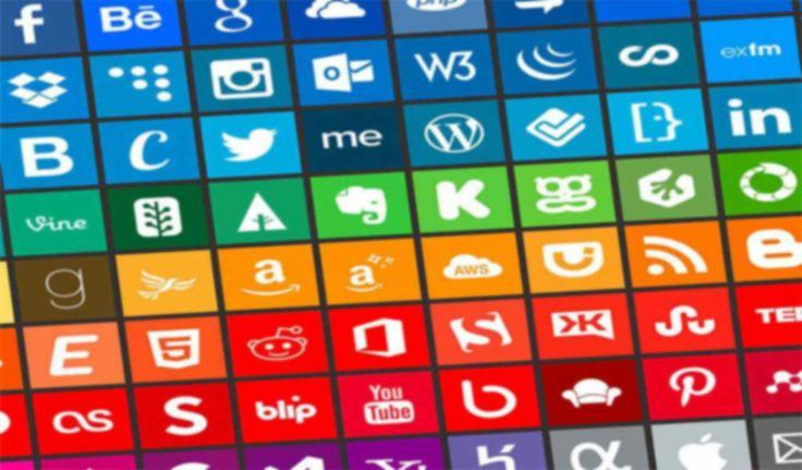 Social Media Icon Rainbow!