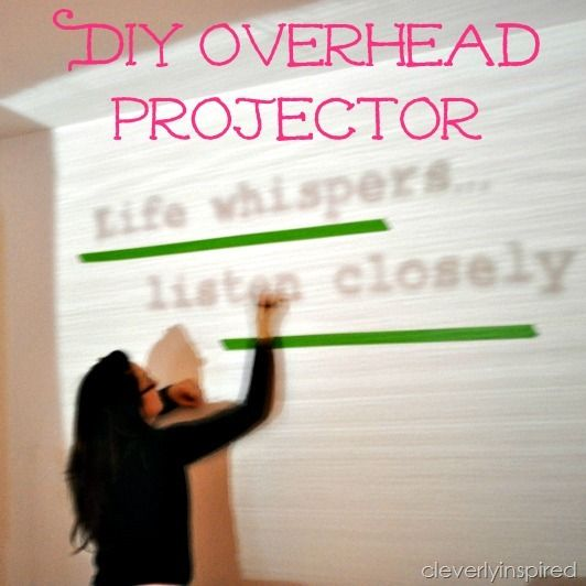 DIY your own overhead projector!! Cool via ...